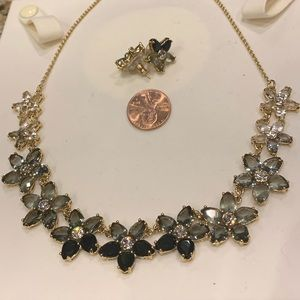Flower Crystal Necklace Set by Kate Spade